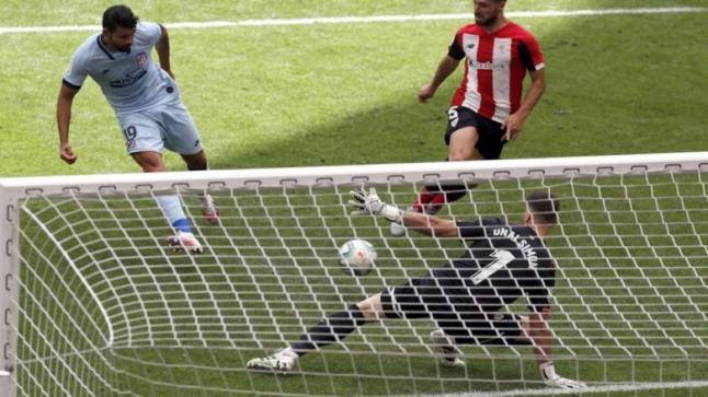 أتليتكو مدريد في الظهور الأول له بعد كورونا يسقط في فخ التعادل أمام بلباو