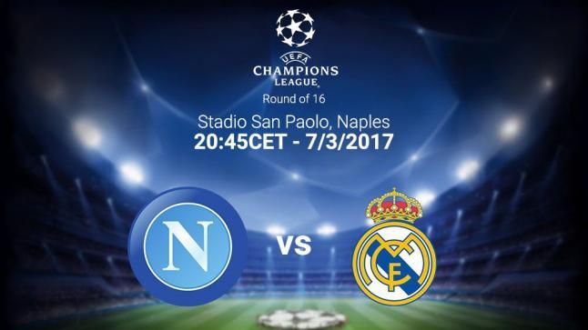 مباراة ريال مدريد ونابولي في إياب دوري أبطال أوروبا 2017 تم التأكيد عن إقامتها في ملعب سان باولو