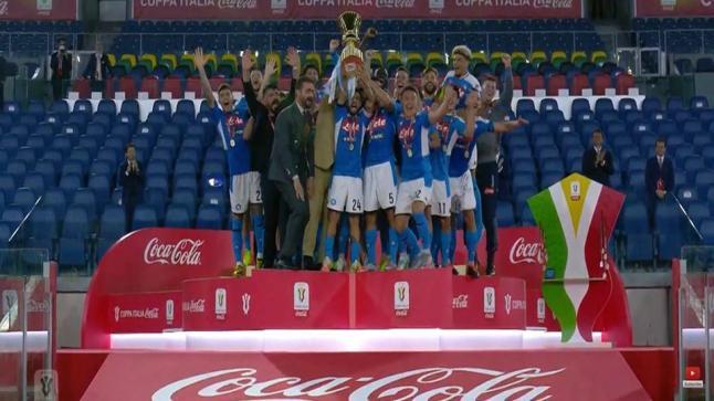 نابولي يُتوج بطلا لكأس إيطاليا 2020 بركلات الترجيح على حساب يوفينتوس