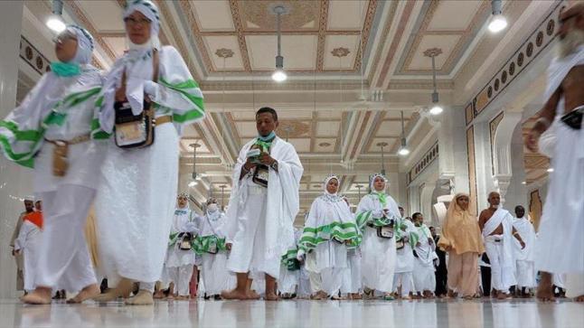 أكثر من نصف مليون حاج ويصلوا إلى المملكة العربية السعودية حتى الآن لأداء مناسك الحج