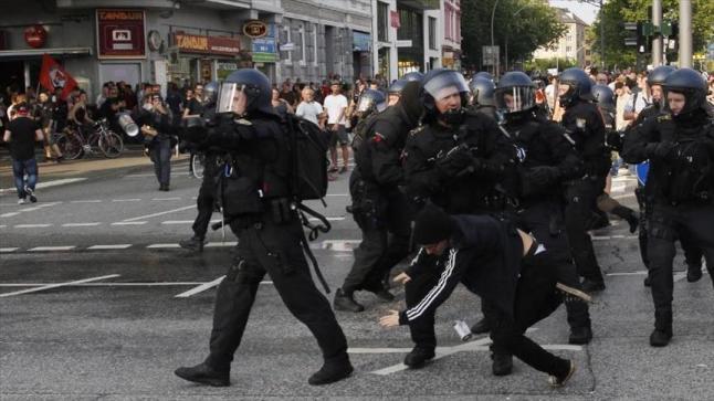 الشرطة الألمانية تتمكن من السيطرة على احتجاجات هامبورج المناهضة لقمة العشرين