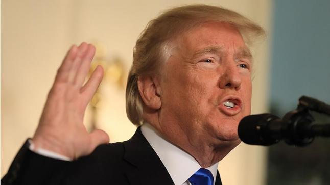 الرئيس الأمريكي دونالد ترامب يعترف بمدينة القدس عاصمة للكيان الإسرائيلي