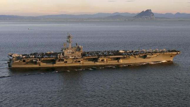 وصول أكبر قطعة بحرية حربية في العالم إلى السواحل المقابلة لمدينة حيفا