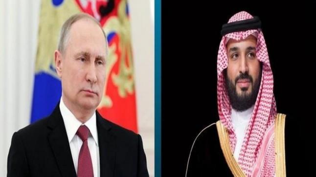 عبر مكالمة هاتفية يبحث ولي العهد مع الرئيس الروسي طرق استقرار أسواق البترول