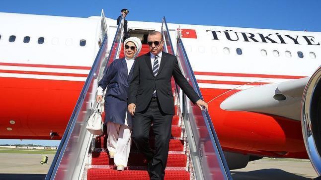 أردوغان يبدأ زيارته الرسمية إلى الولايات المتحدة الأمريكية، واحتشاد عدد من الأتراك وجنسيات أخرى لاستقباله
