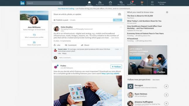 تصميم جديد لموقع لينكد إن بالاضافة إلى خيارات جديدة ومختلفة في هذه المجال
