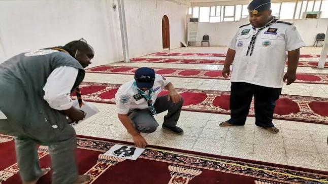 """""""السعودية"""" جهود كبير من الفرق الكشفية داخل تنظيم المصلين"""