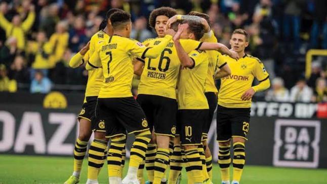 فوز نادي بروسيا دورتموند بنصف دستة أهداف